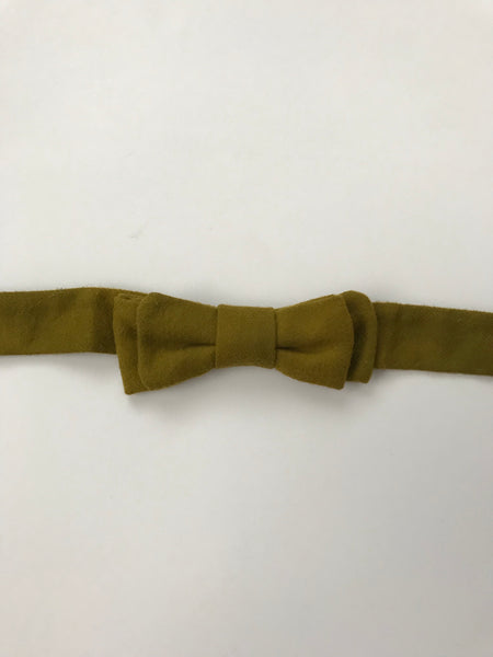 Bow Tie - Army Green Flannel