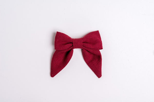 Sailor Bow- Muted Berry