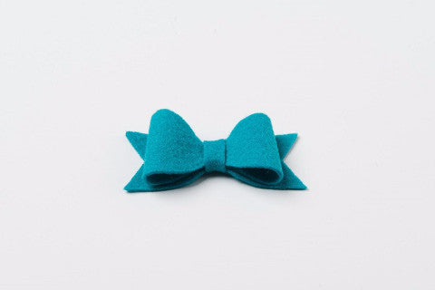 Peacock Teal Felt Bow