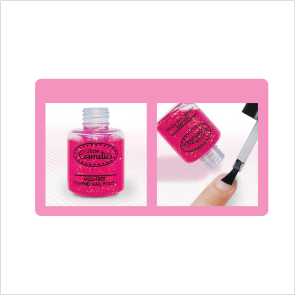 Pretend Makeup Fuchsia Sparkle Nail Polish™