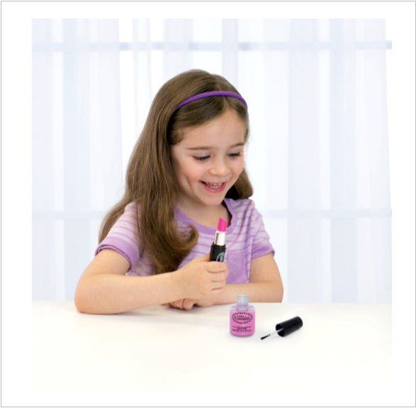 Sparkle Pink Pretend Nail Polish and Lipstick Accessory Set™