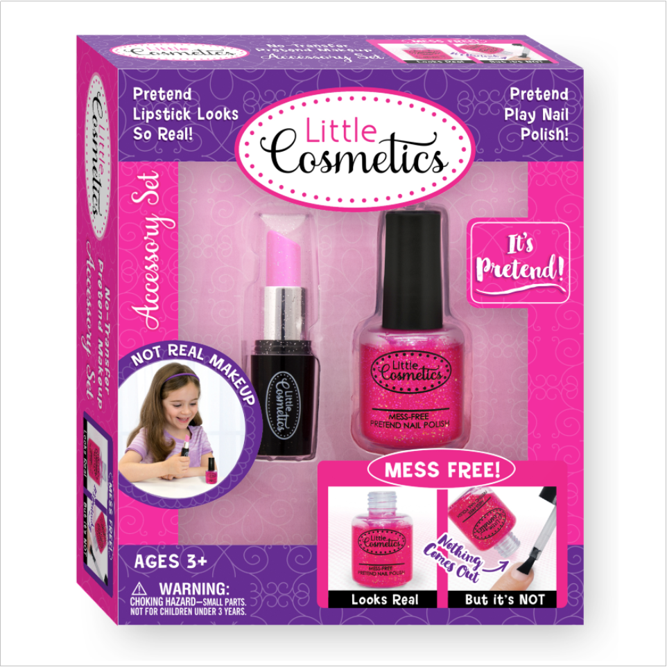 Sparkle Fuchsia Pretend Nail Polish and Lipstick Accessory Set™