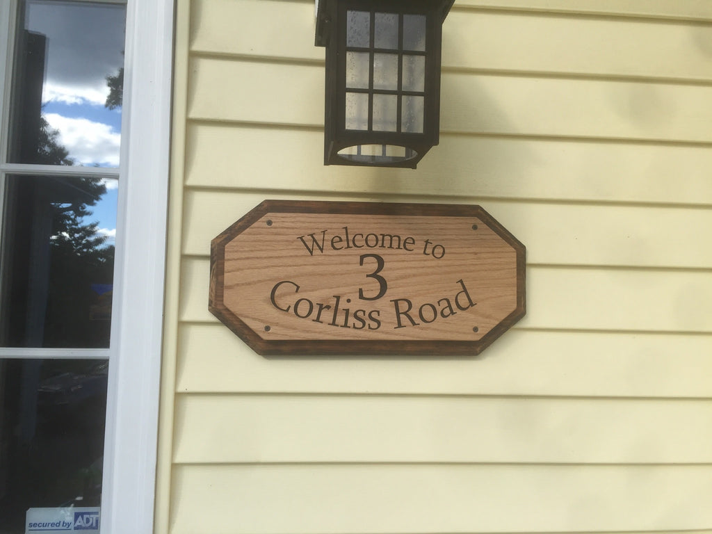 Street Address Sign - 3 Corliss Road