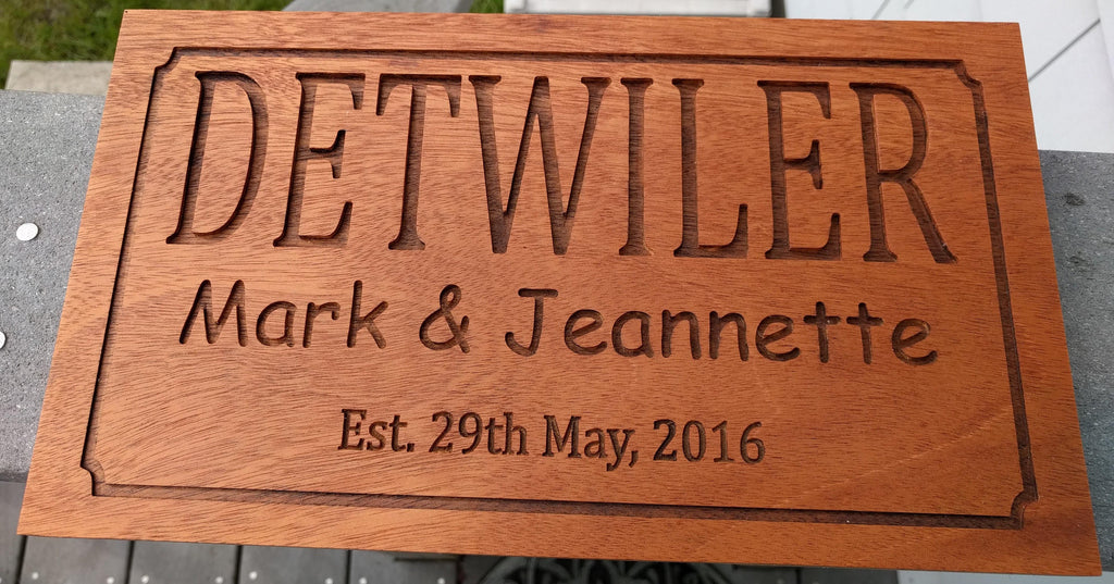 Detwiler's - Wedding Sign - May 2016