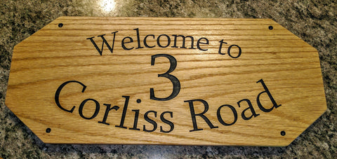 House Address Sign - Personalized
