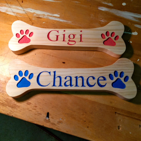 Personalized Dog Bone Pet Name Sign