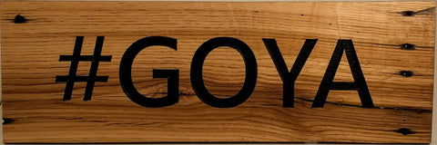 Reclaimed Wood Hashtag Sign - #GOYA