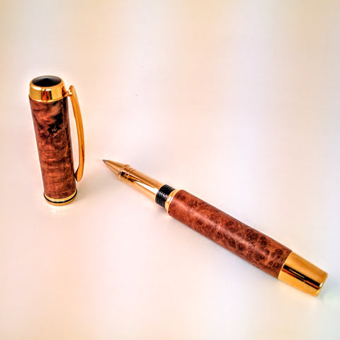 Jr. Gent II - Redwood Burl - Rollerball Pen - Wilder Wood Works