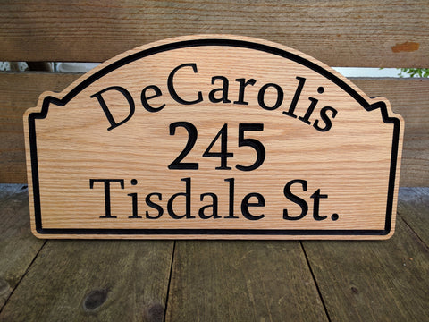 Personalized House Address Sign - Wilder Wood Works