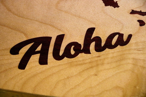 Cutting Board-Hawaii-Aloha Inlay-Wilder Wood Works