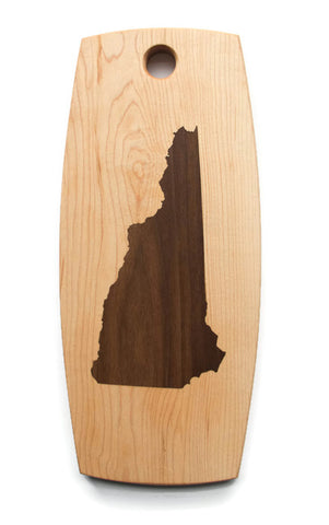 New Hampshire Cutting Board - Maple with Walnut Inlay - NH Cutting Board