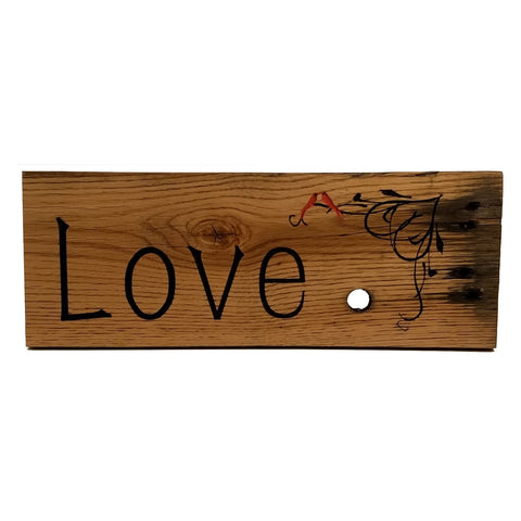 Rustic Wood Sign - Love Birds