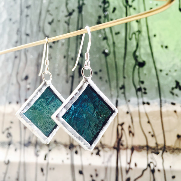 Glas øreringe // Glass earrings #2