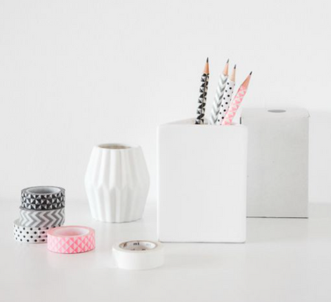 diy pencil makeover craft with washi tape