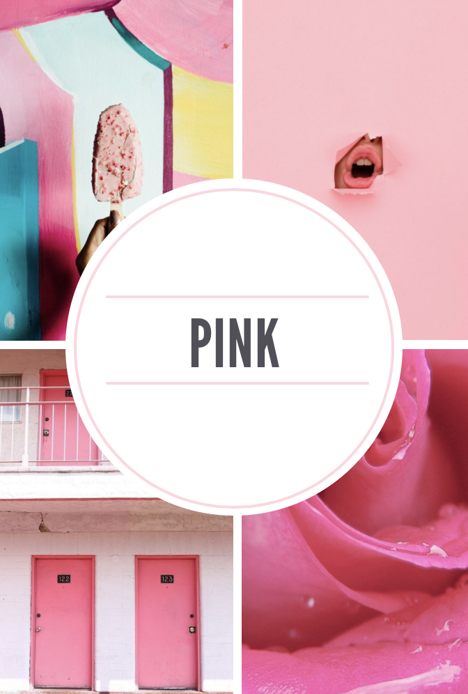 pink mood board, Monday motivation on wang's wonderful world blog