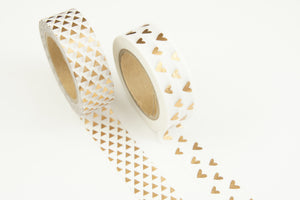 Washi tape, set of two - rose gold
