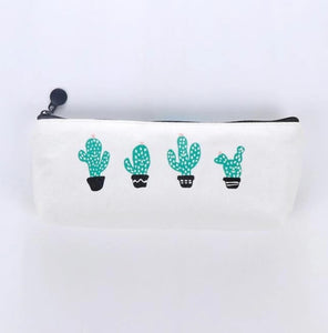 Pencil case with cactus print - Wang's Wonderful World