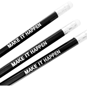 Pencil, black - Make it happen - Wang's Wonderful World