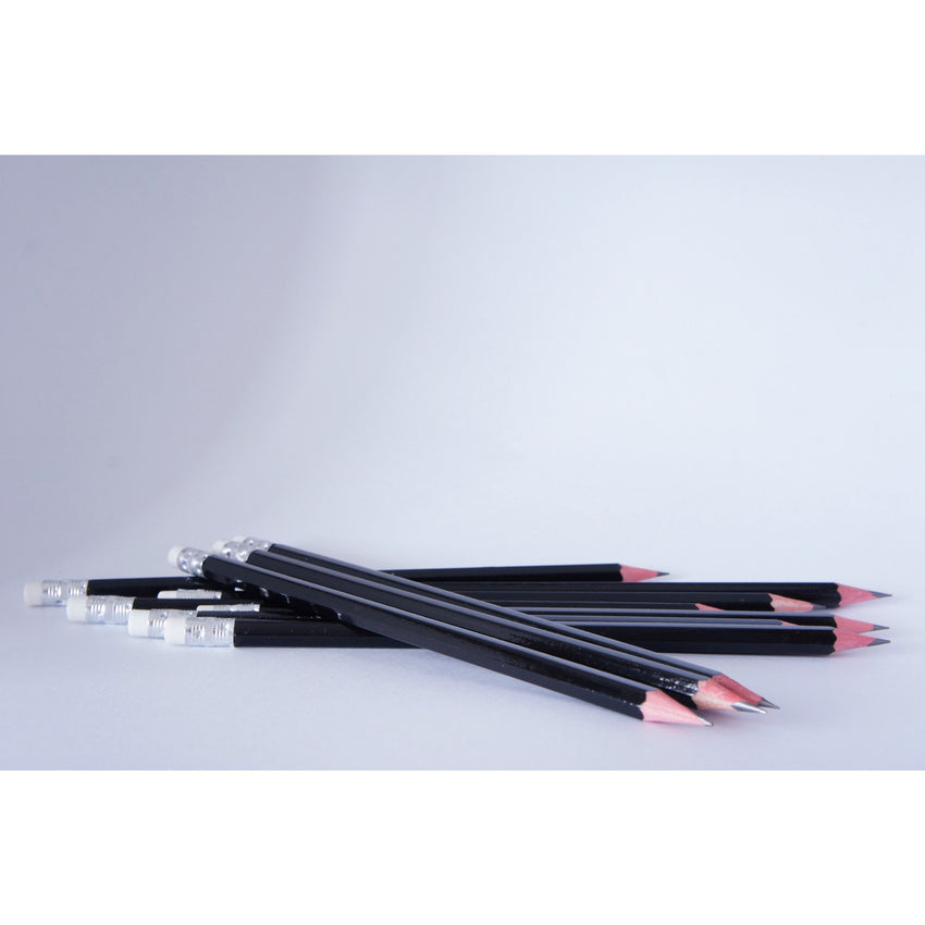 Pencil, black with white rubber end - Wang's Wonderful World