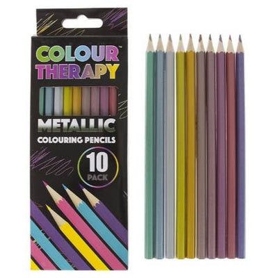 Colouring pencils, metallic