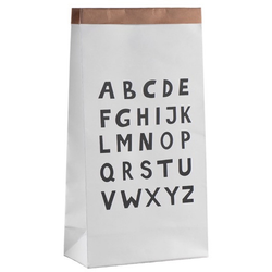 Kraft paper storage bag, A-Z