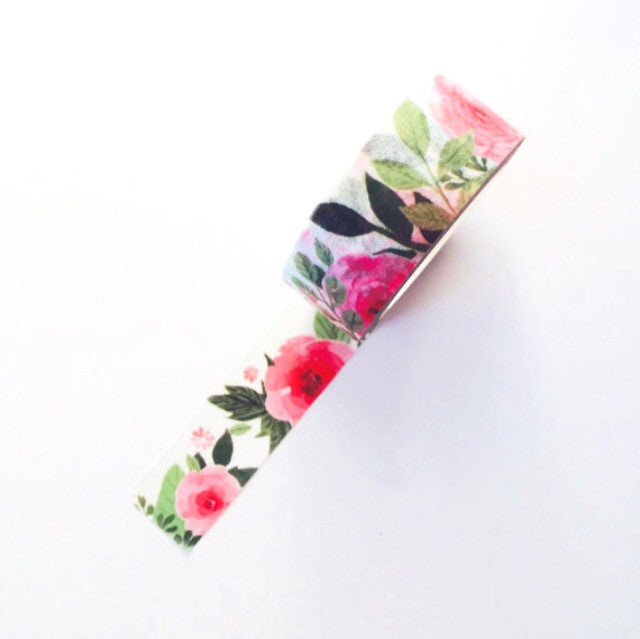 Washi tape, tropical, floral - Wang's Wonderful World