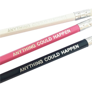 Pencils, set of 3 - white, pink, black - Anything could happen - Wang's Wonderful World