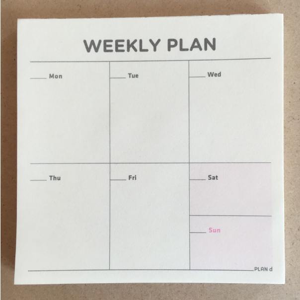 Planner, weekly pad - Wang's Wonderful World