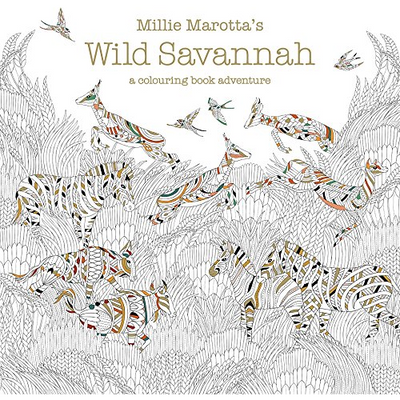 Millie Marotta Colouring Book - Wild Savannah - Wang's Wonderful World