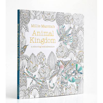 Millie Marotta Colouring Book - Animal Kingdom - Wang's Wonderful World