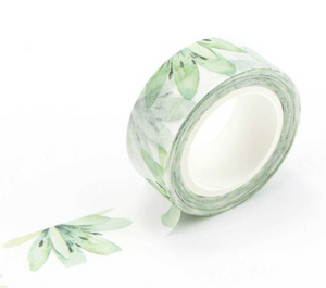 Washi tape, green, tropical print