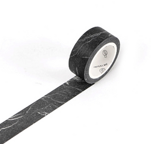 Washi Tape, black marble