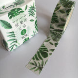 Washi tape, banana leaves - Wang's Wonderful World