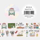 Fresh Art Food And Life Washi Tape Adhesive Tape DIY Scrapbooking Sticker Label Masking Craft Tape - Wang's Wonderful World