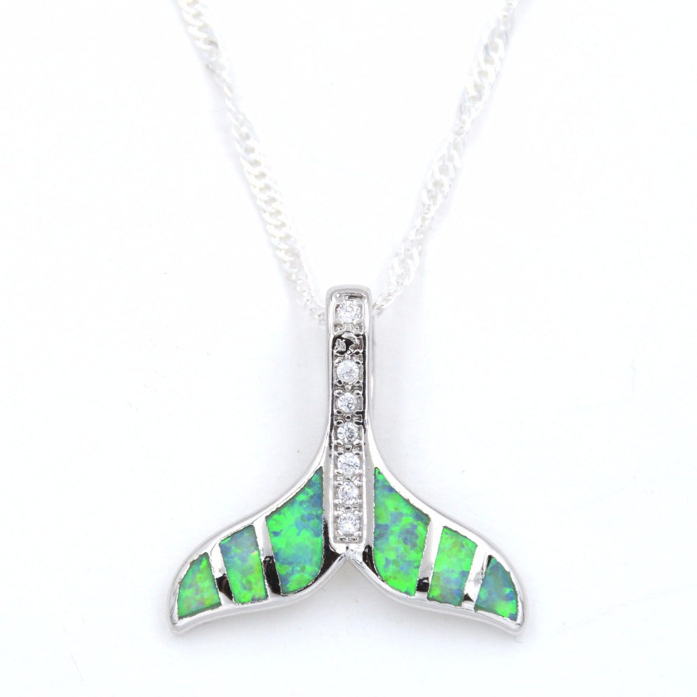 stingray without silver sterling chain pendant necklace opal products image fire product blue