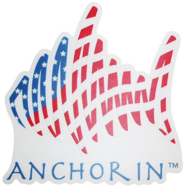 American spring fish window decal anchor in clothing