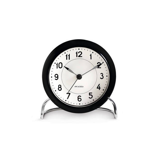 Arne Jacobsen Station Alarm Clock, Black