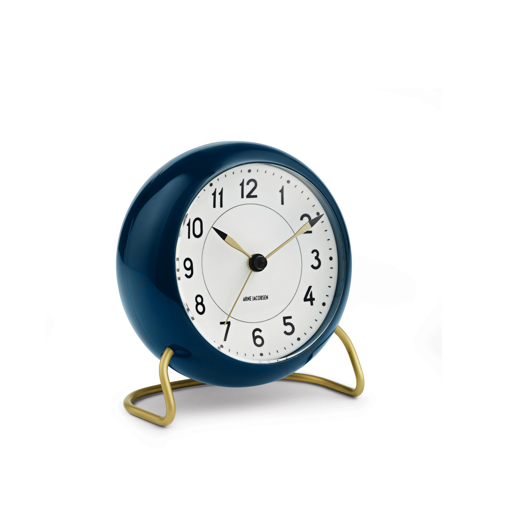 Arne Jacobsen Station Alarm Clock, Blue