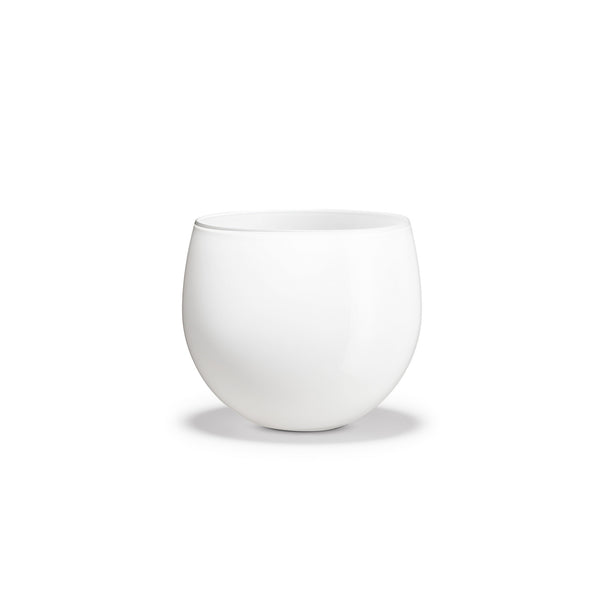 Cocoon Flower Pot, White, 5""