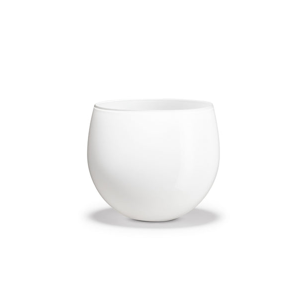 Cocoon Flower Pot, White, 5.8""