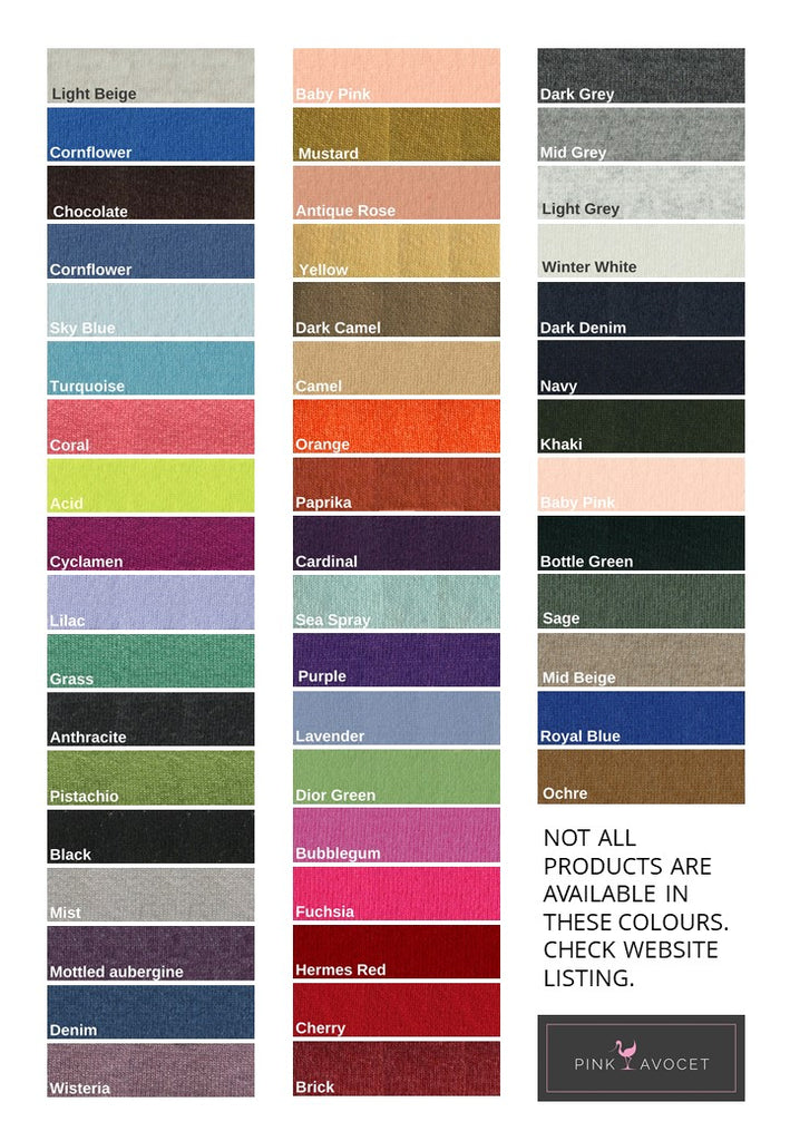 cashmere colour chart