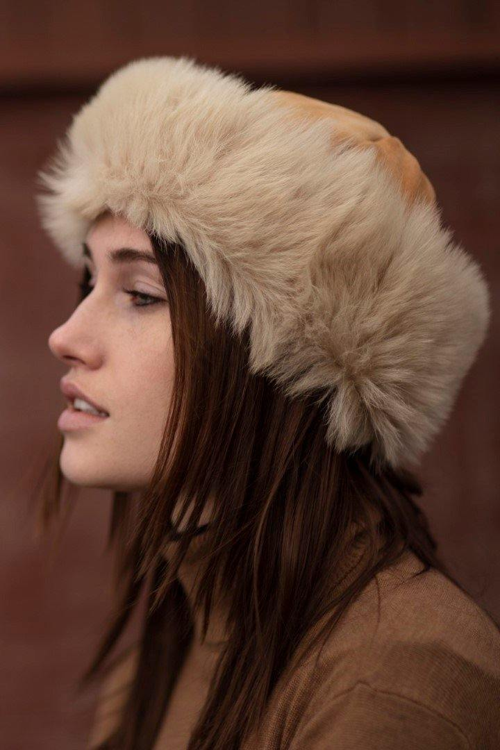 Sheepskin Hat - 100% Toscana - Pink Avocet
