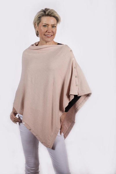 737c6dd4b Classic Button Poncho Cashmere and Silk Wear 6 Ways – Pink Avocet