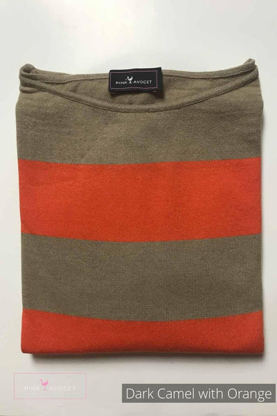Stripey Boat-neck Jersey