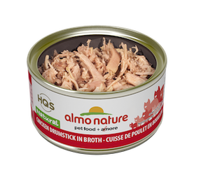 Almo Nature Natural Chicken Drumstick In Broth Wet Cat Food