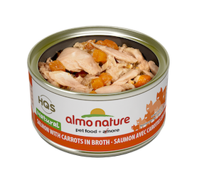 Almo Nature Natural Salmon With Carrots In Broth Wet Cat Food