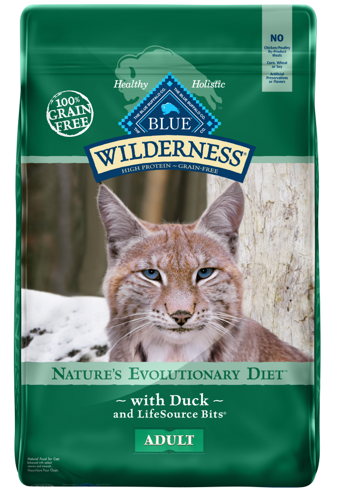 Blue Buffalo Wilderness Grain Free Duck Recipe Dry Cat Food