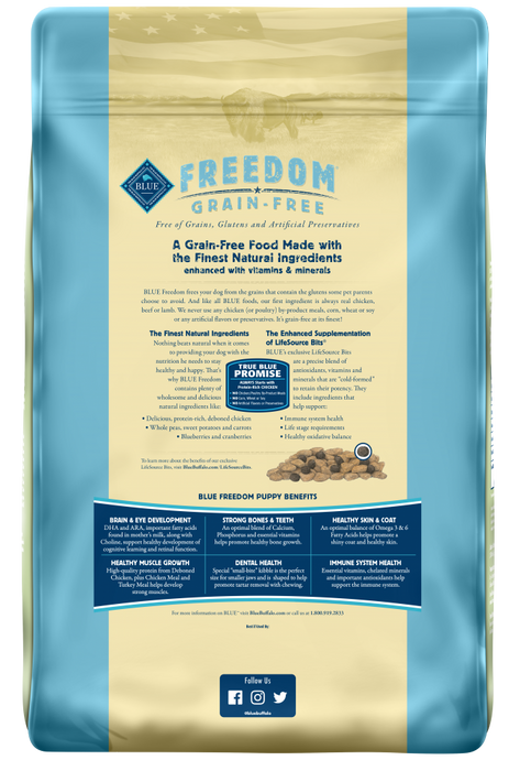 Blue Buffalo Freedom Grain Free Chicken Recipe Puppy Dry Dog Food