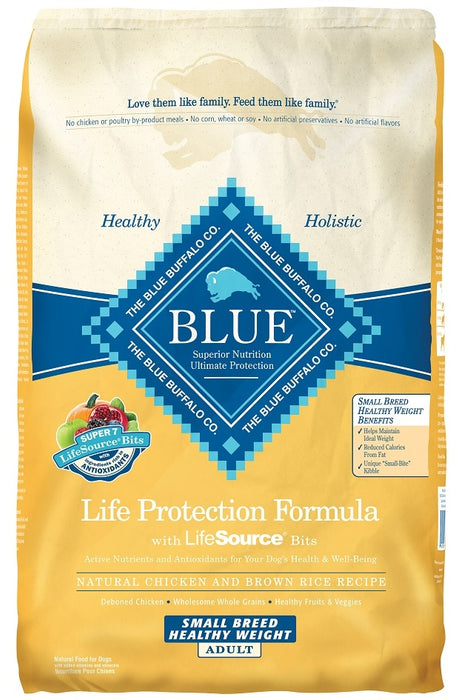 Blue Buffalo Life Protection Small Breed Adult Healthy Weight Chicken and Brown Rice Recipe Dry Dog Food