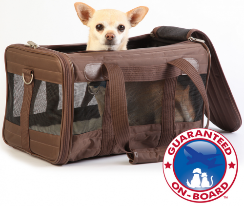 Sherpa Original Deluxe Brown Pet Carrier